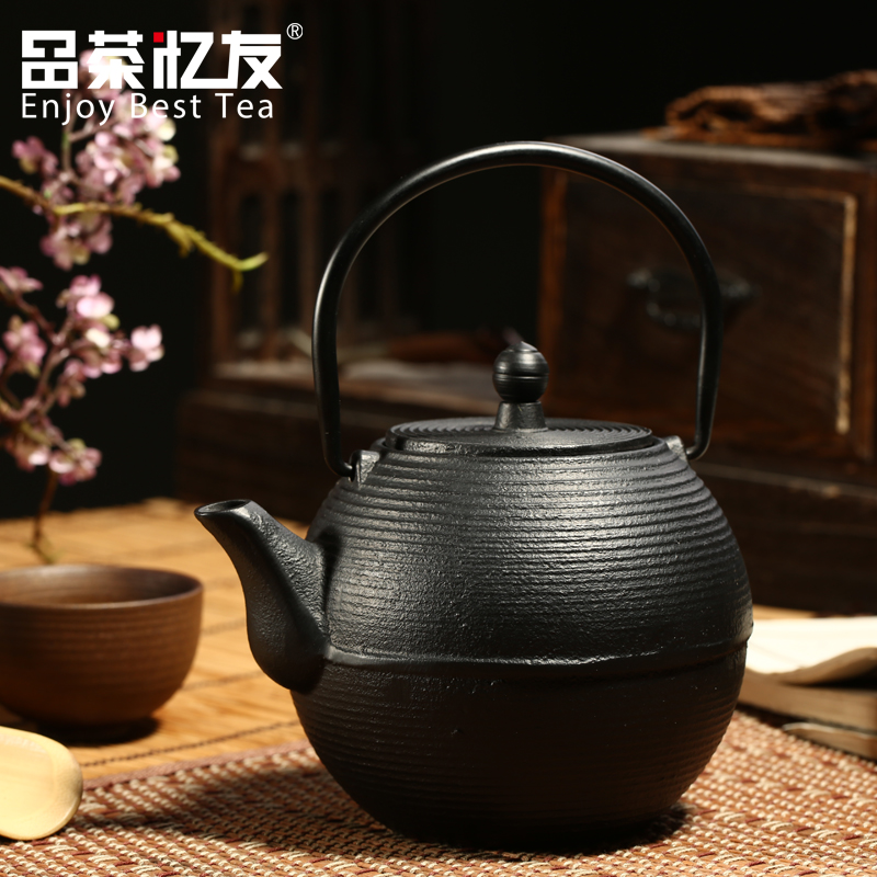 Friends recalled tea round grain southern japanese cast iron pot old iron kettle teapot kettle large iron kettle tea with free shipping