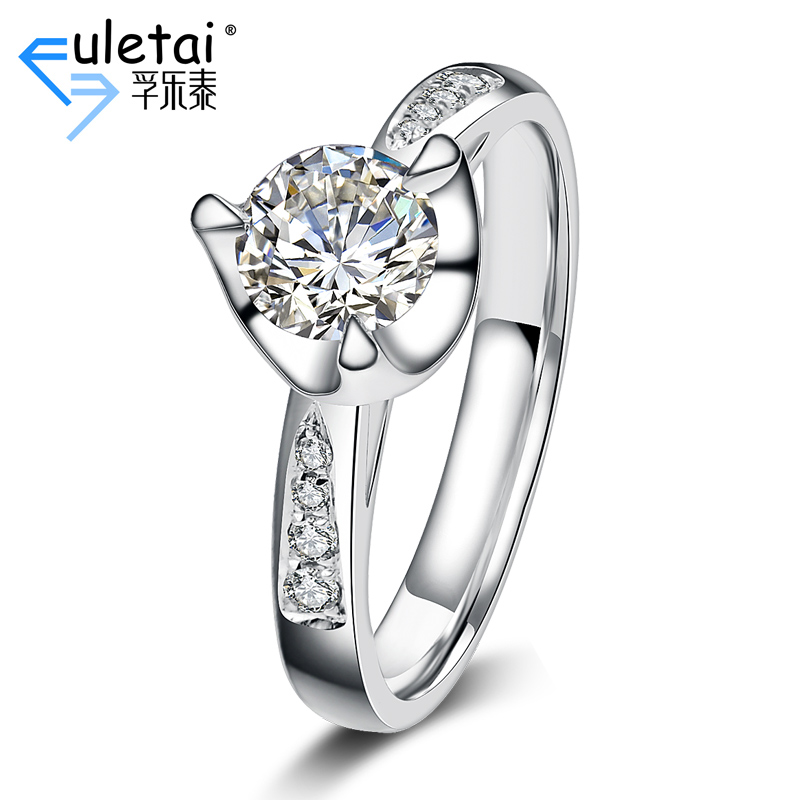 Fu loctite k white gold diamond ring custom three prong luxury stone diamond loose diamonds custom wedding ring