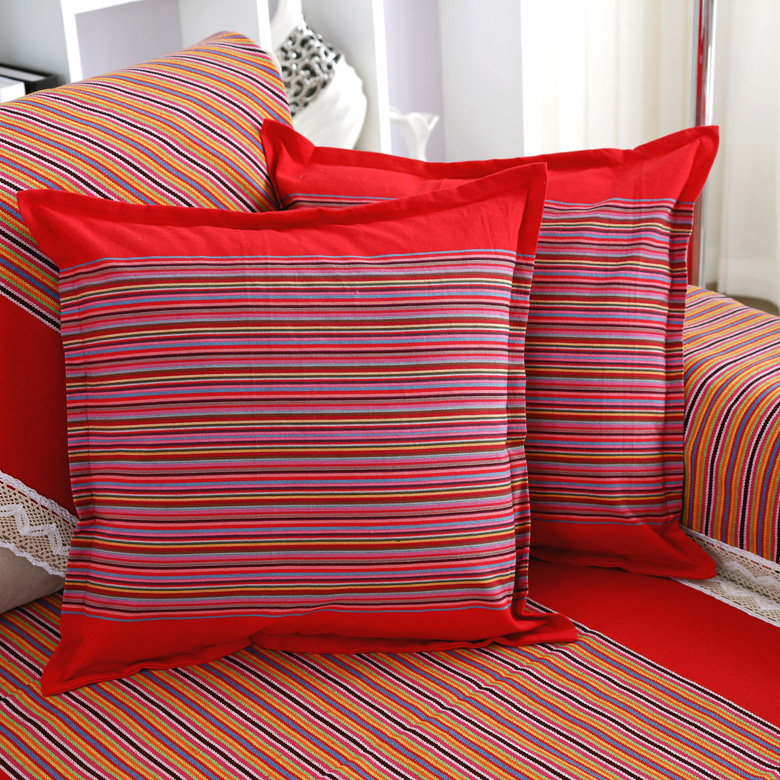 Fu textile solid denim striped old coarse cushion covers pillow cover by pillowcase 48*48 cotton pillow without the core