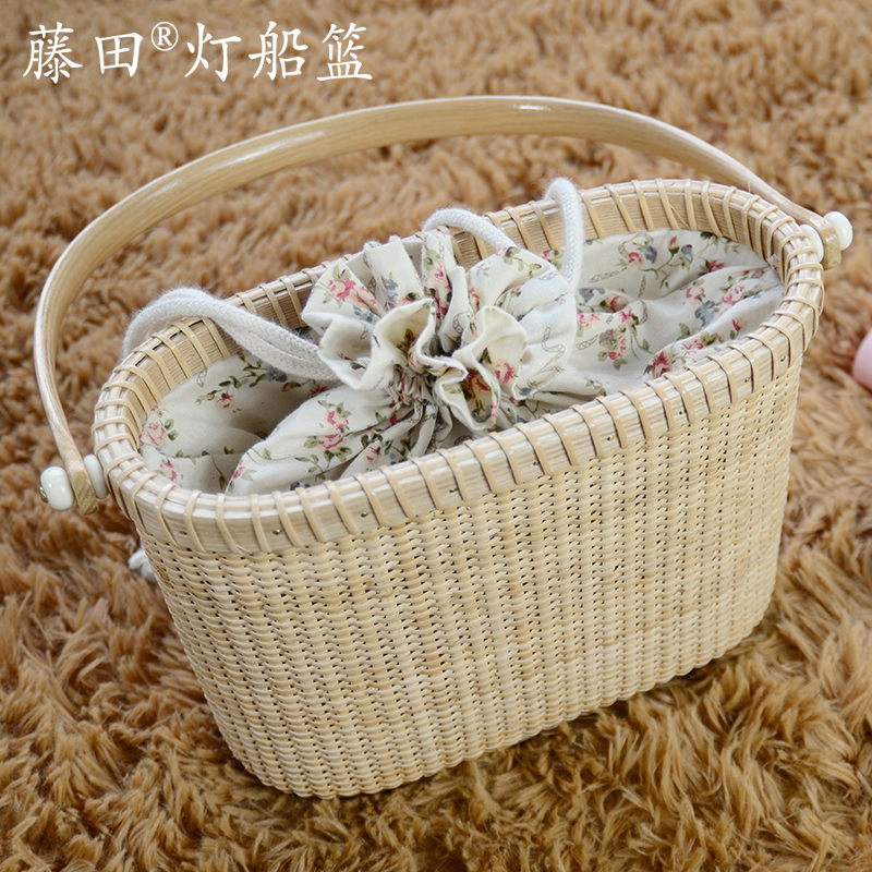 Fujita braided basket shopping basket creative ladies handbags handbags ms. portable storage basket basket basket bag wallets