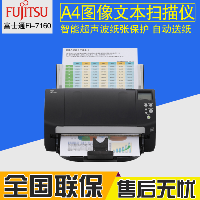 Fujitsu Fi-7160 a4 image scanner high speed duplex adf scanner substitute 6140Z