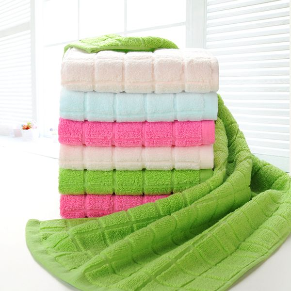 [Full 88 yuan shipping] cause rather checkered untwisted cotton towel washcloth buy 6 to send a bowl of bamboo fiber A towel