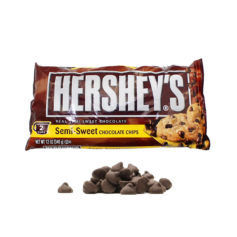 [Full hundred free shipping] hershey 340g flavor semi sweet dark chocolate cocoa beans baking temperature