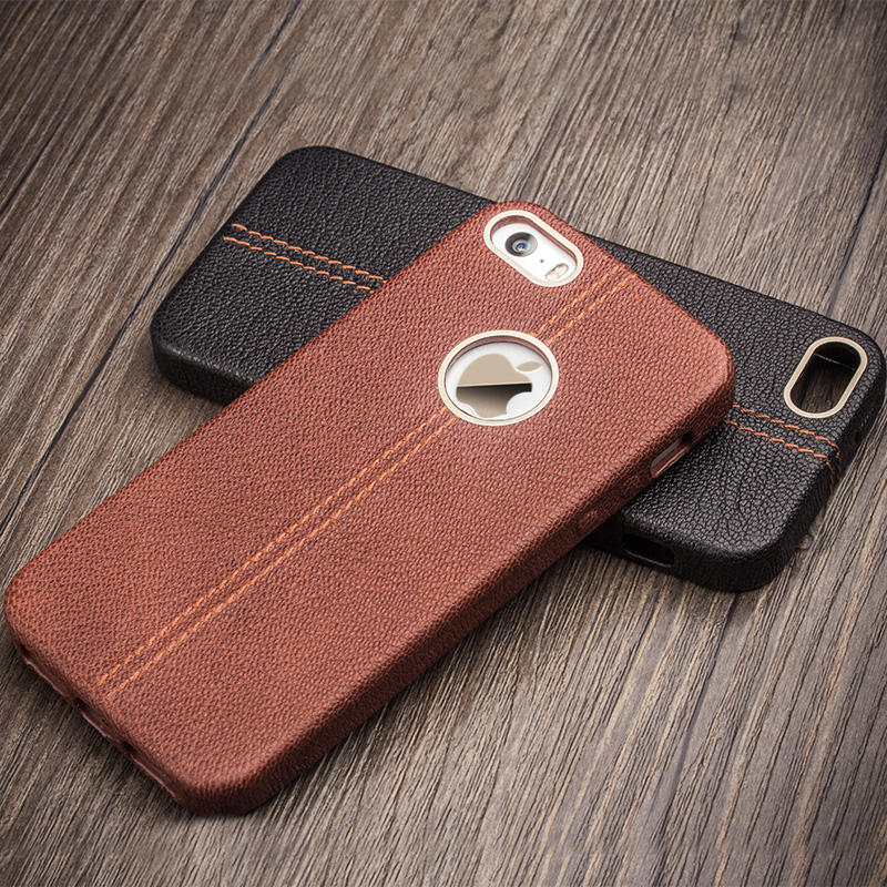 Full leather package iphone5s apple 5s phone shell mobile phone shell holster apple 5s protective shell mobile phone sets shell drop resistance men