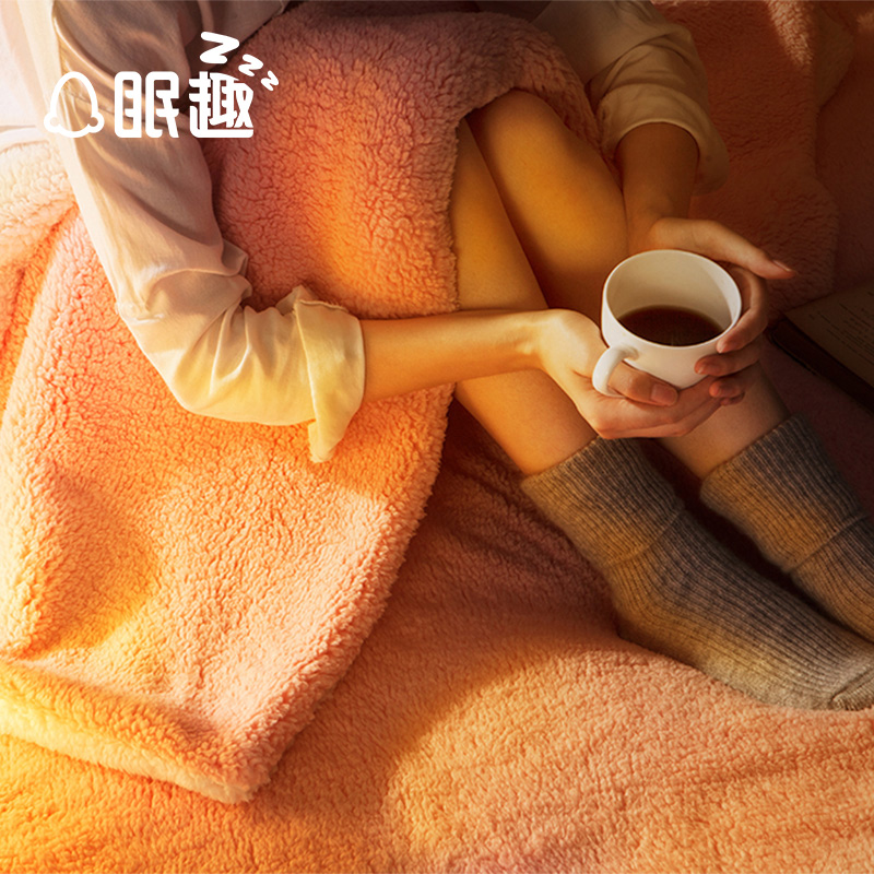 Fun sleep double thick blanket of winter blankets double single sofa blanket cashmere blanket blanket coral carpet