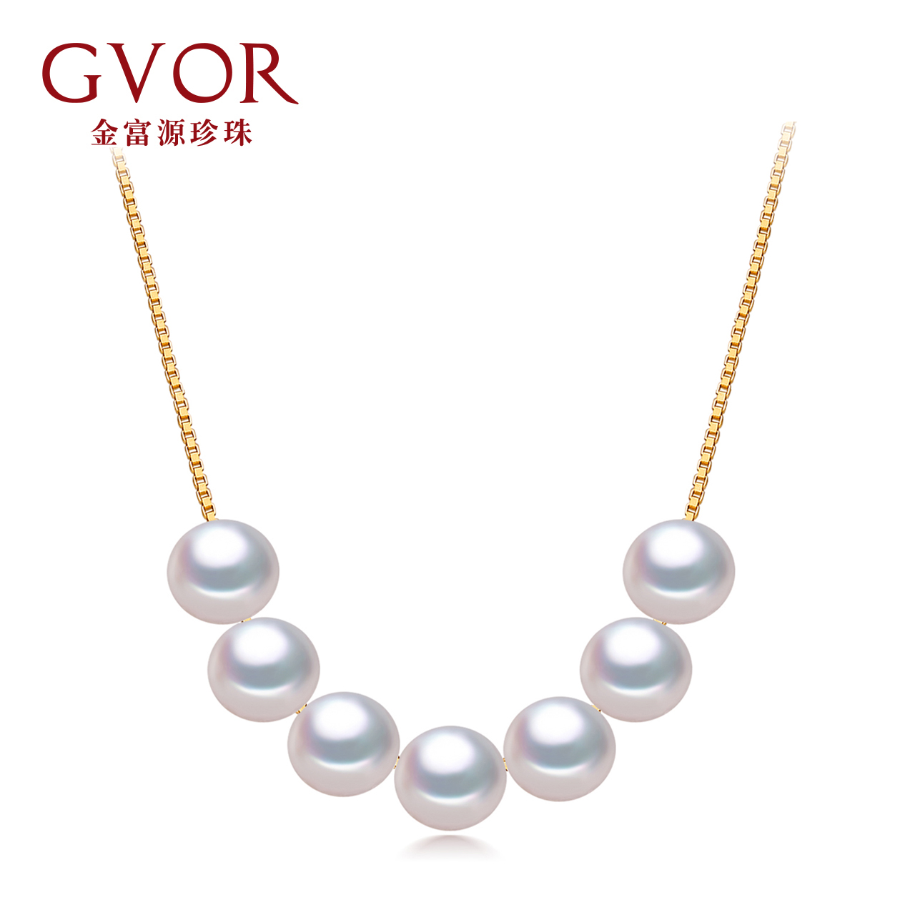 Fuyuan jewelry sevené¢6-11mm 7MM nearly round freshwater pearl pendant pearl 925 silver pendant