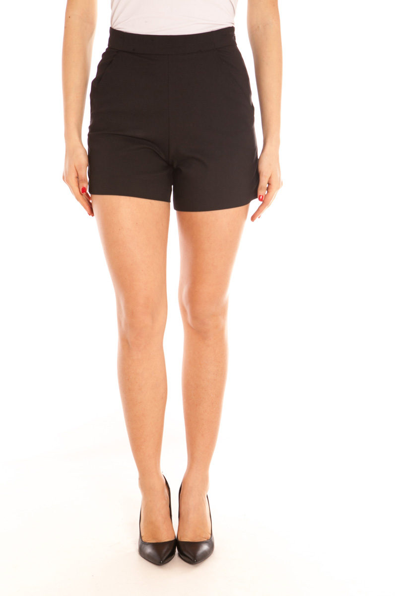 G. sel ms. g. sel GS40594 spring and summer black casual shorts 63% cotton 37% other