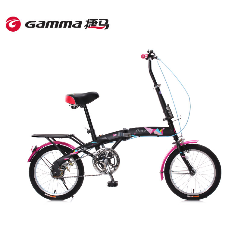 Gamma/jie ma 16 inch folding bike bicycle adult men and women students leisure portable car small round paper cranes