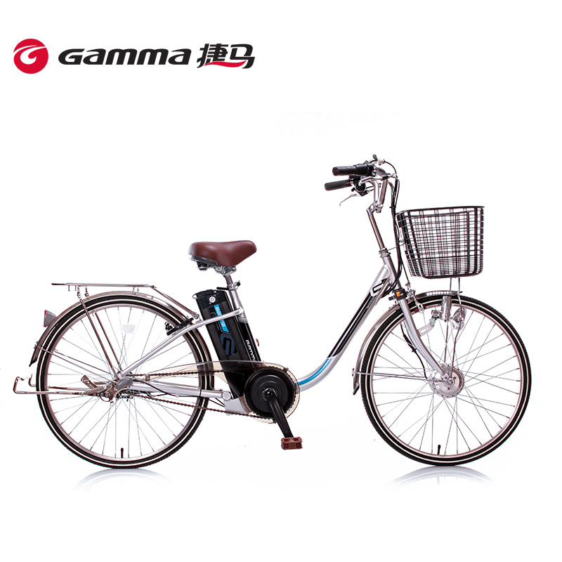 Gamma/jie ma electric car 24 inch exported to japan torque variable speed bicycle v chuan sense lithium car junya