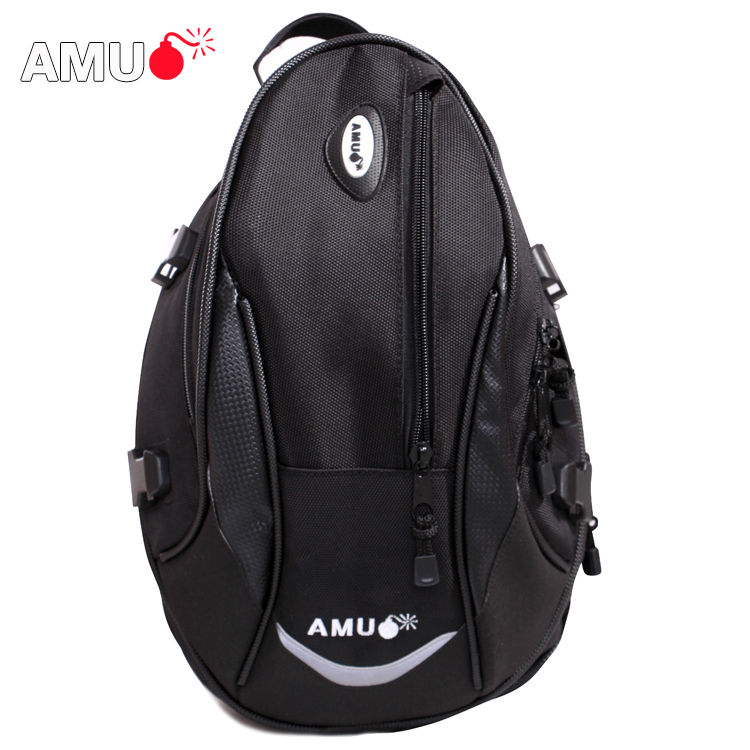 Genuine amu motorcyclists riding equipment bike tail bag after bag shoulder bag backpack waterproof motorcycle rear seat package