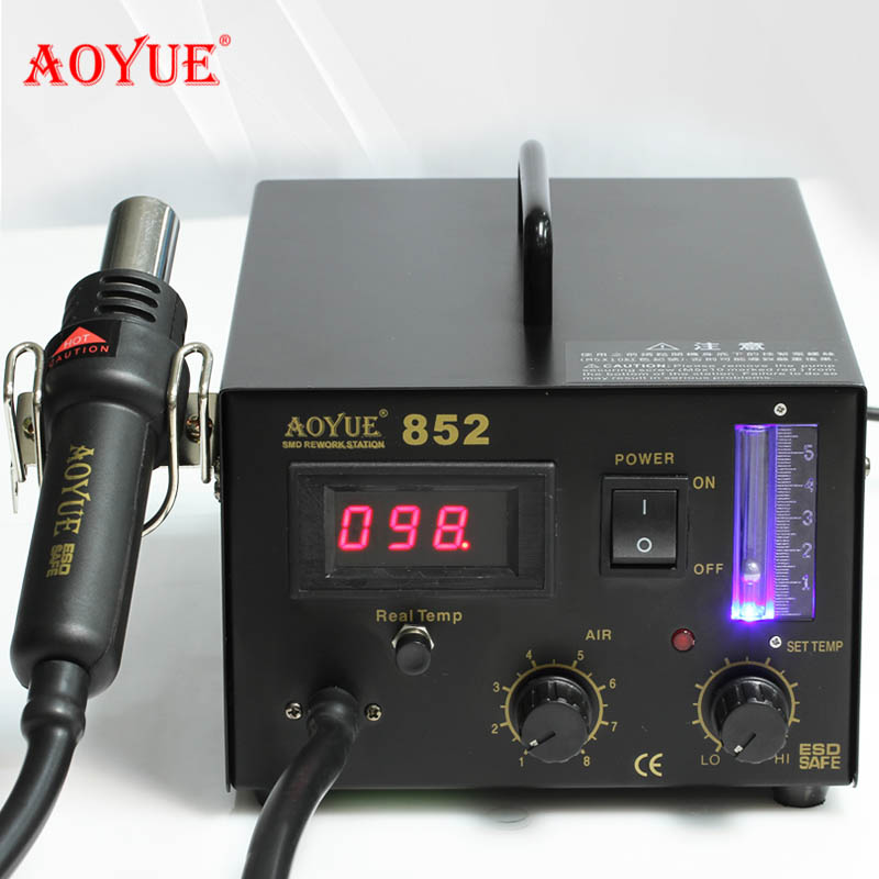 Genuine aoyue aoyue 852 temperature digital display hot air gun rework station stubbs soldering station digital electronic maintenance tools