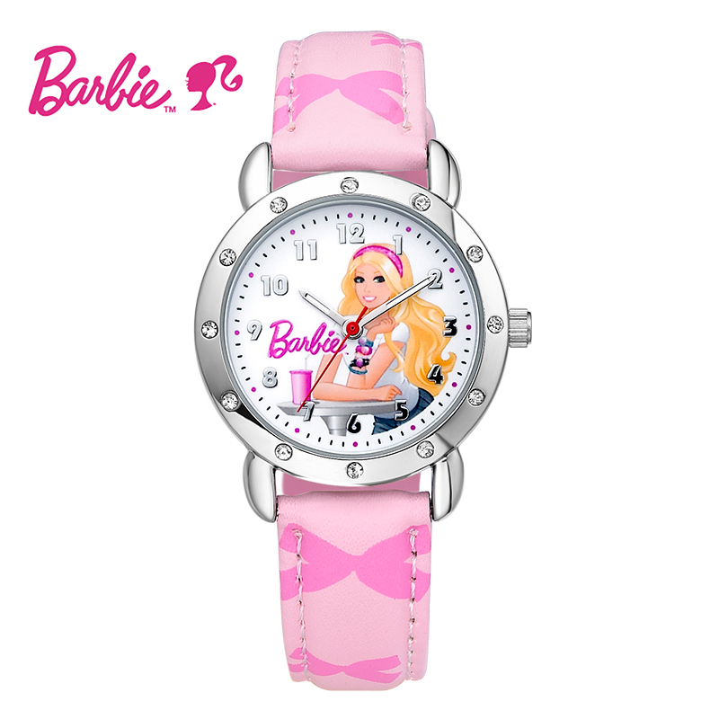 Genuine barbie princess children watch cartoon watch girls high school students watch cute girl fashion diamond