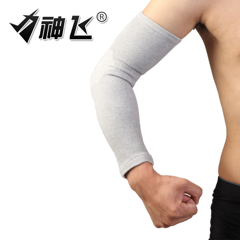 Genuine charcoal breathable lengthened badminton basketball guard arm elbow air conditioning warm autumn and winter brace