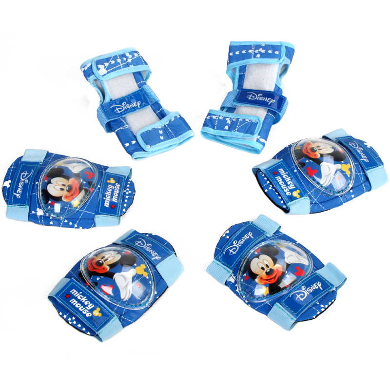 Genuine disney children's skates skating protective gear 6 set baby men and women sports protective knee elbow pads protect palm