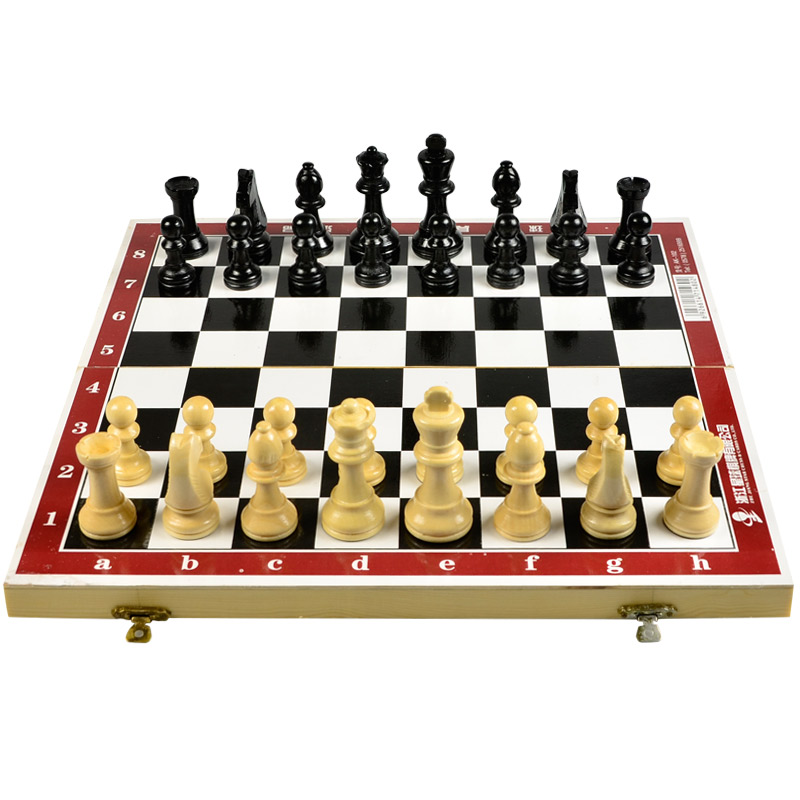 Genuine dulux/enpex international woodiness amateur training game with chess chess portable folding chess board