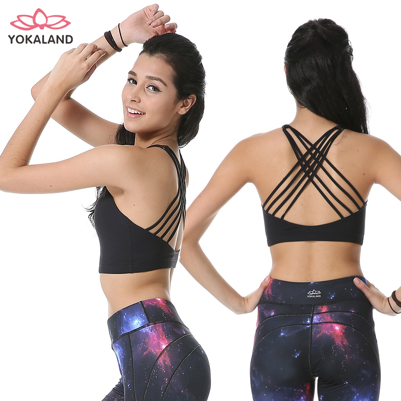 Genuine eukanuba lotus yoga clothes shirt spring and summer new stylish and elegant beauty back fitness yoga jogging vest short paragraph