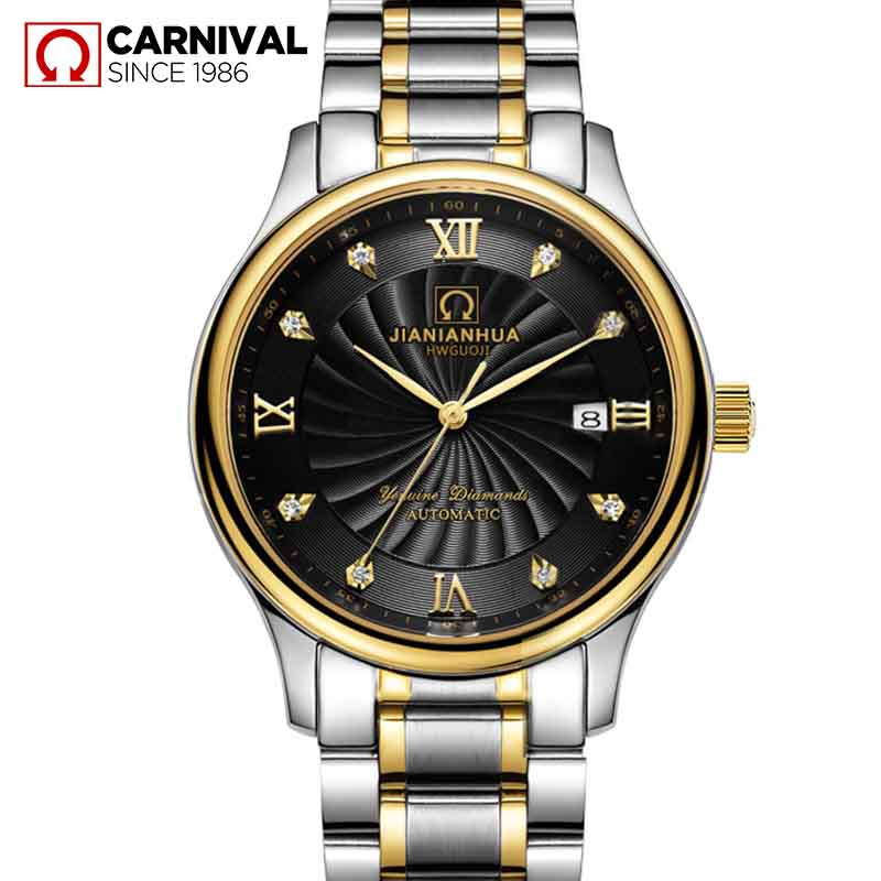 Genuine fiesta automatic mechanical watch hollow men watch men watch steel waterproof watch male form thin section