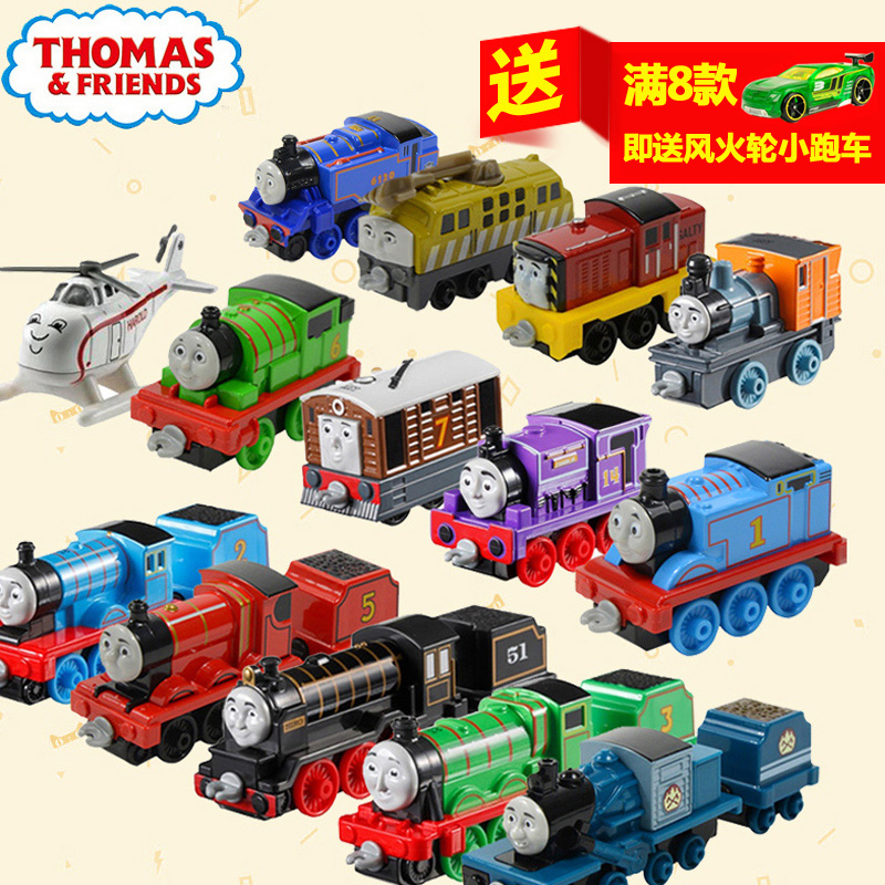 Genuine fisher thomas train thomas and friends of the alloy locomotive toy cars for children can be connected to the