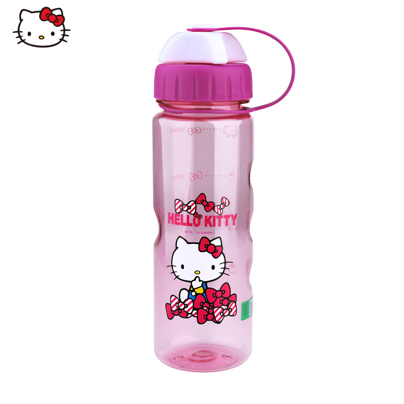 Genuine hello kitty children girls cute kitty watercups small girls creative portable leak cup baby cups