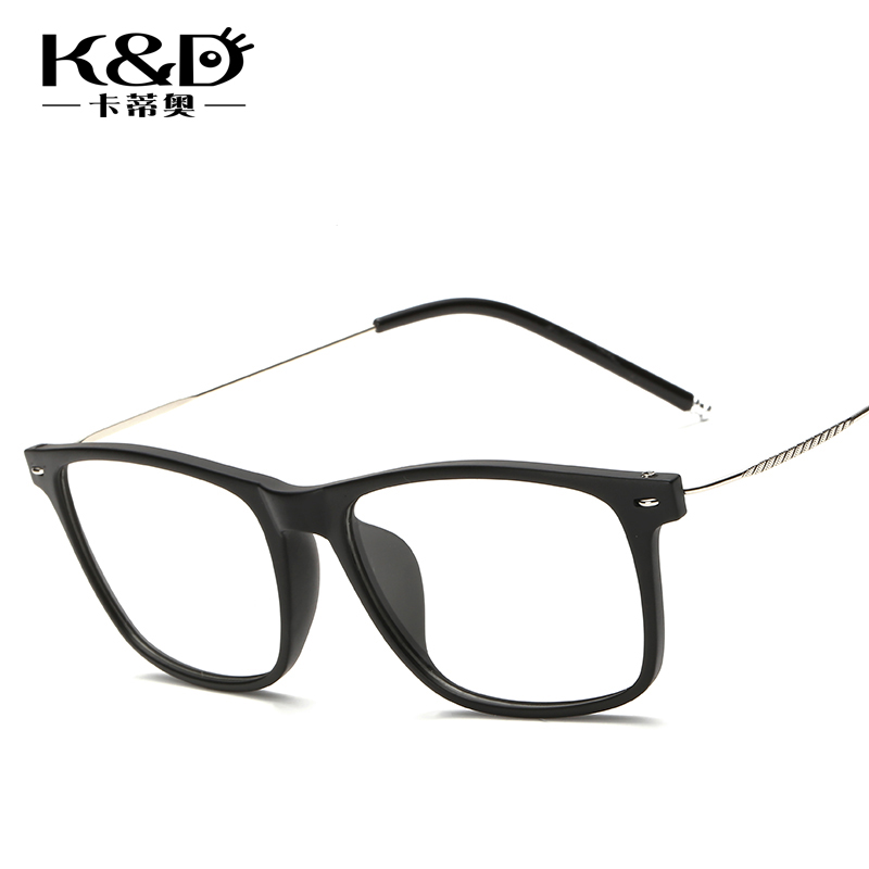 Genuine lightweight tr90 frames male and female models big korean version of the full frame plain mirror frame glasses frame finished with myopia