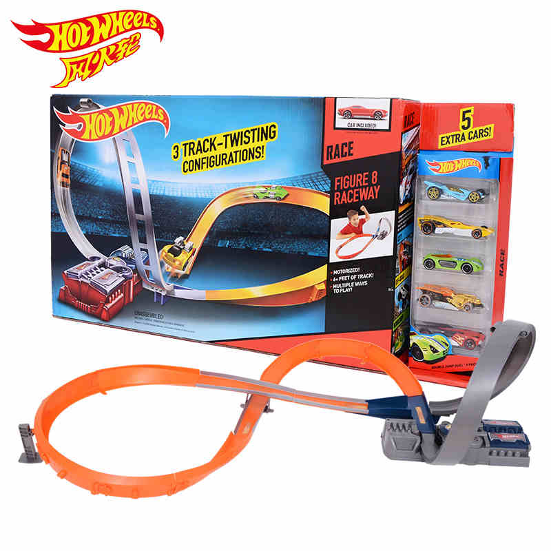 Genuine mattel hot wheels track children's toys electric car stereo convolution x2586 racing car track toy