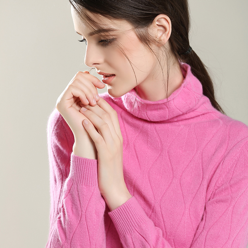 Genuine new slim piles collar cashmere sweater women pure mountain cashmere sweater knit sweater hollow collar freedom