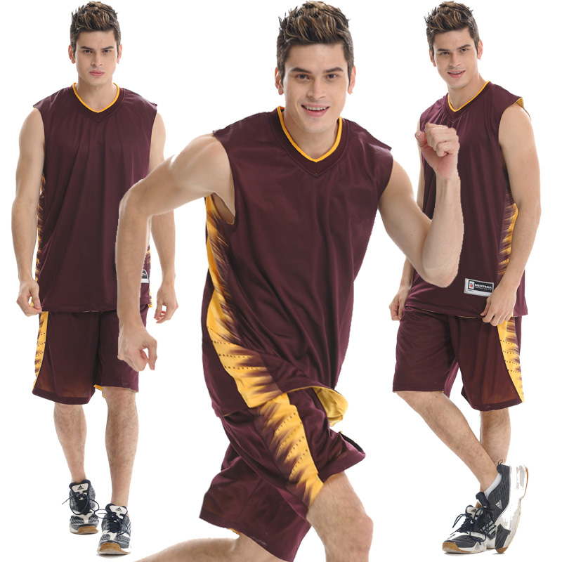 Genuine sided wear basketball clothes personalized custom basketball jersey dress suits men breathable jersey number printed word vest buy
