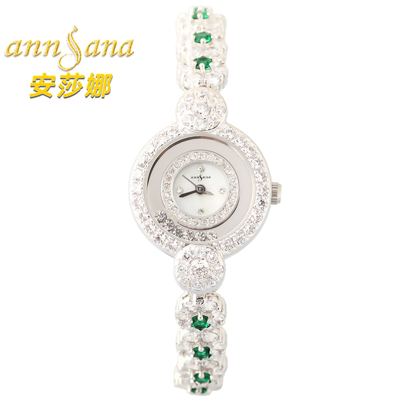 Genuineå®èå¨thin natural mother of pearl diamond ladies watch ladies watches fashion quartz watch waterproof watch
