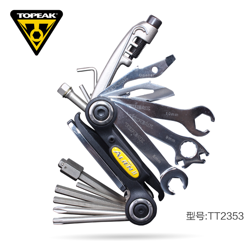 Genuine topeak bike mountain bike repair 26 function combination tool with a pedal wrench tt2353
