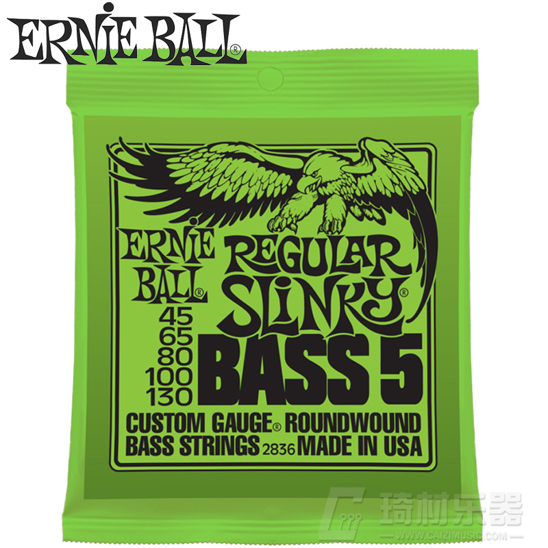 Genuine us production ernie ball 2836 nickel wound 5 string bass string bass string sets 45-130