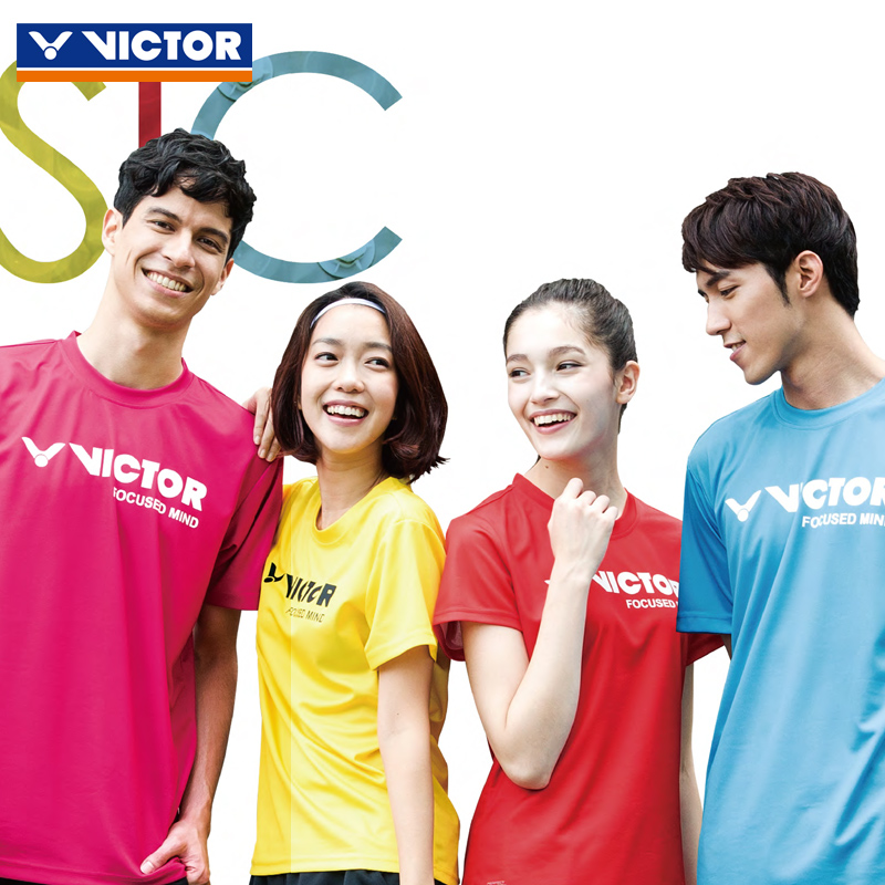 Genuine victor victory badminton clothing for male and female sports short sleeve t-shirt victor shipped move summer shorts suit