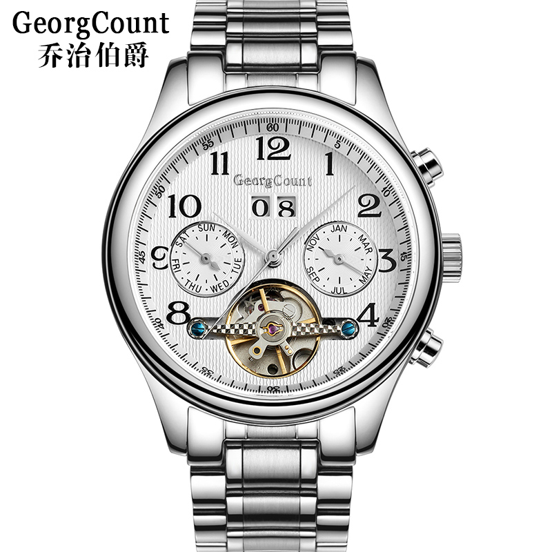George earl genuine watches men automatic mechanical watch men watch waterproof watch hollow watch