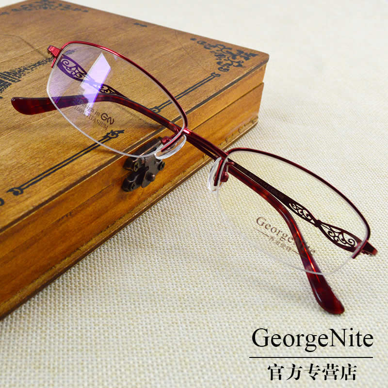 George ni special T6956 ultralight titanium frames glasses frame optical glasses glasses frames myopia female models influx of temperament