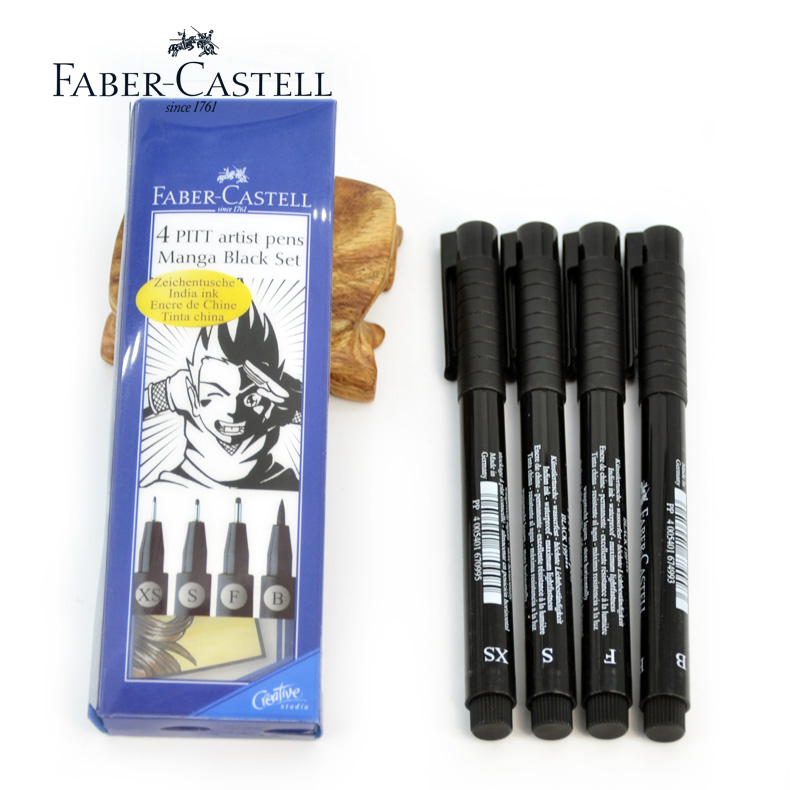 German faber pens 4 pitt 3æ¯suit anime series tracing pen hook line pen drawing pen with a soft brush