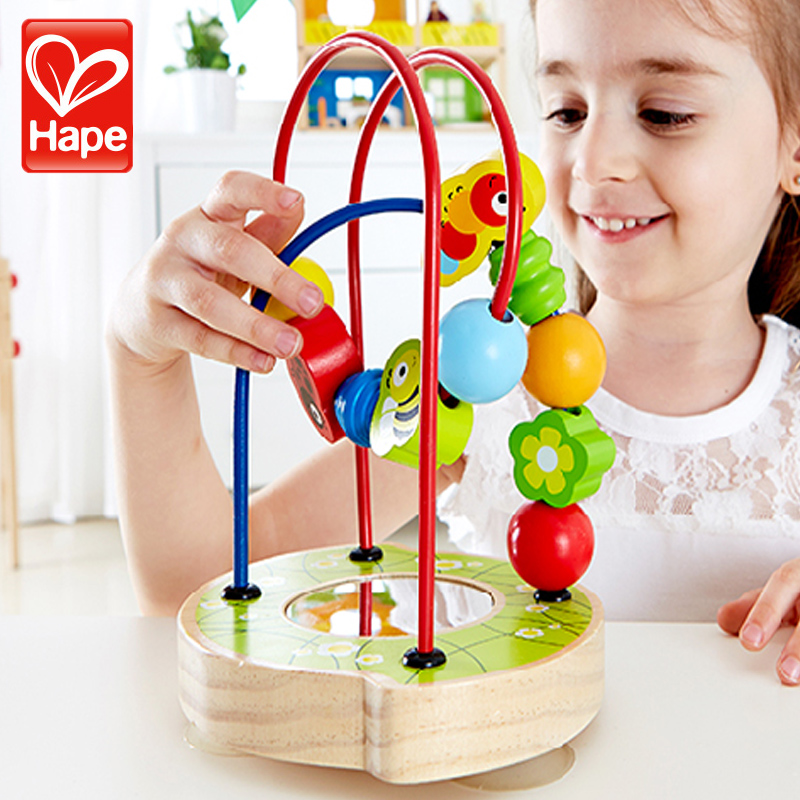German hape baby garden creative intelligence puzzle around the bead beaded baby toys for children with suction cups E8031