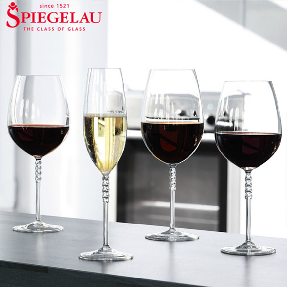 German imports spiegelau gem series crystal goblet of red wine with a glass of wine glass of champagne glass of wine