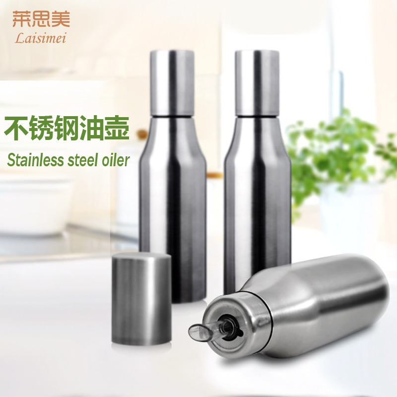 German stainless steel suit leak oil leak oil bottle oiler creative kitchen supplies soy sauce vinegar bottle oil tank