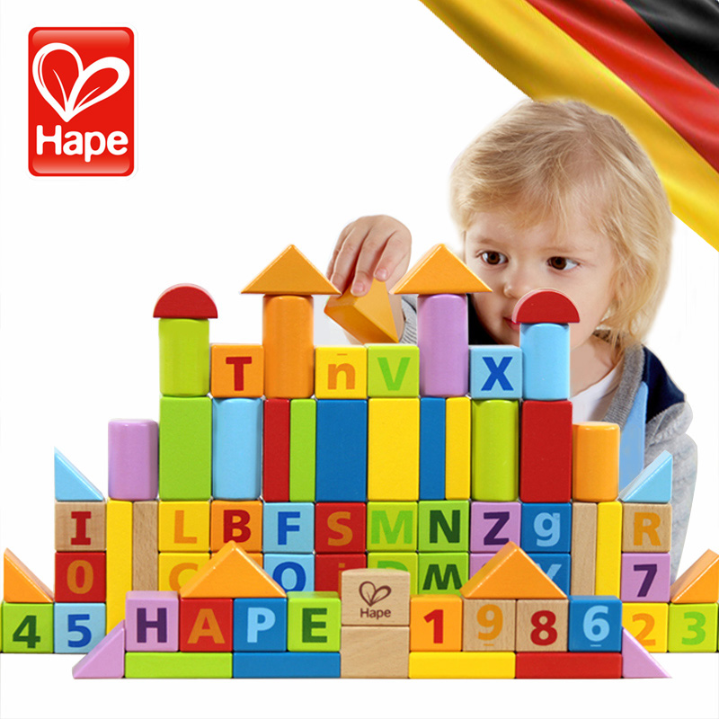 Germany hape 80/60/145 play puzzle wooden baby blocks children 1-2-3-6 birthday boys and girls