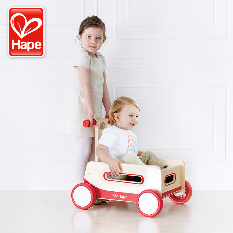 Germany hape retro baby walker wooden toys for children baby educational toys multifunction hand sliding car