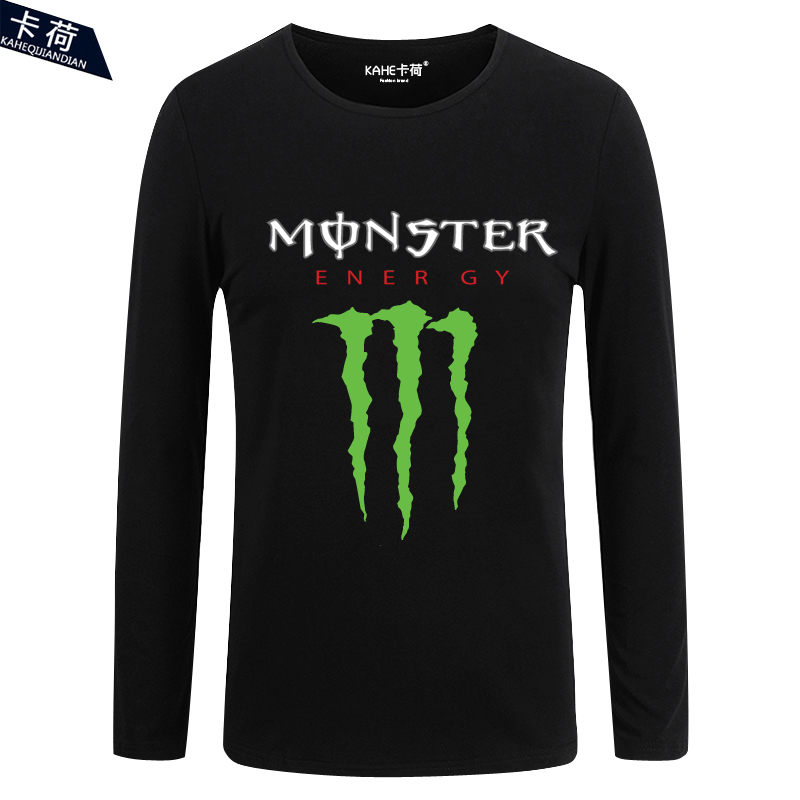 å¡è·ghostcrawler monster energy outdoor cross country men and women couple casual cotton round neck t-shirt long sleeve t-shirt