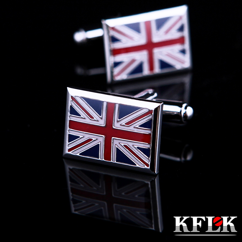 Gift box kflk british flag cufflinks cufflinks french shirt cufflinks cufflinks men's shirt cufflinks business casual fasteners