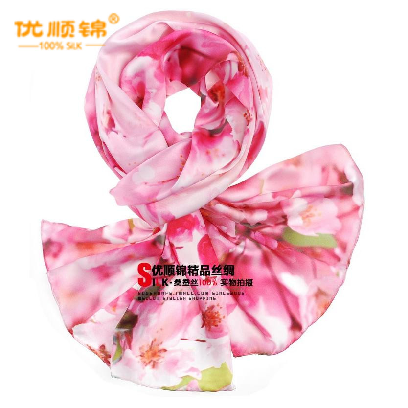 Gifted jin genuine silk silk scarf spring and female models fashion bomb micro casual upscale silk scarves scarf