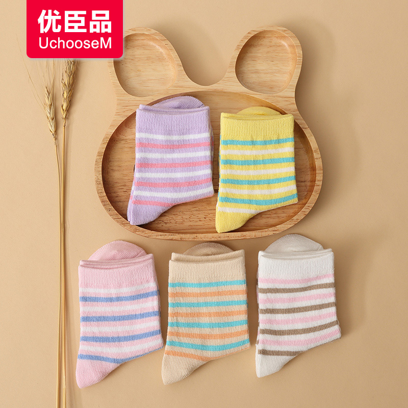 Gifted minister product socks striped socks children cotton spring models boys and girls baby socks baby tongwa 1-3-6 -9-12
