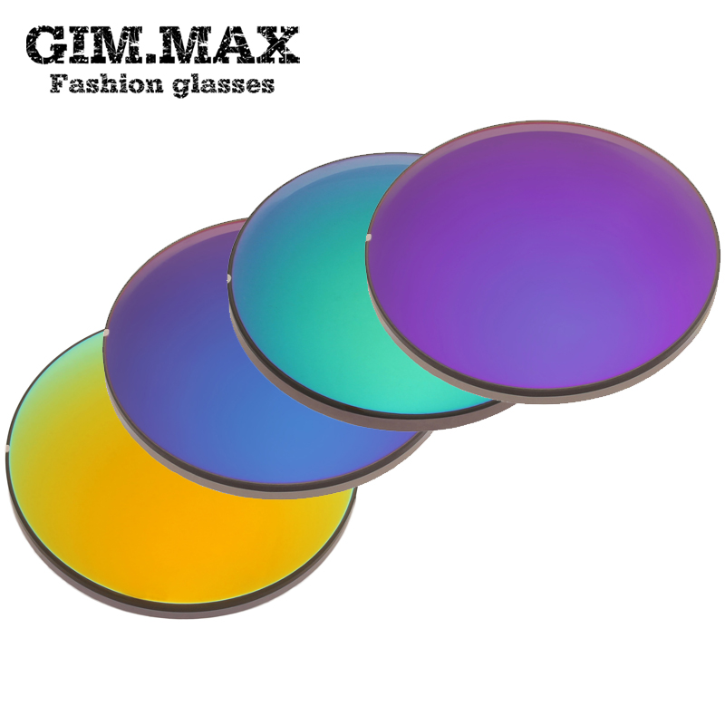 Gimmax 1.49 colorful film polarized sunglasses unisex myopia myopic lens sunglasses 8 color options 2 installed