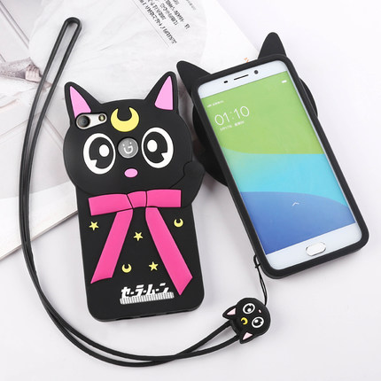 Gionee diamond phone shell lanyard GN5001 gn5001S v187 soft silicone shell protective sleeve cartoon female models