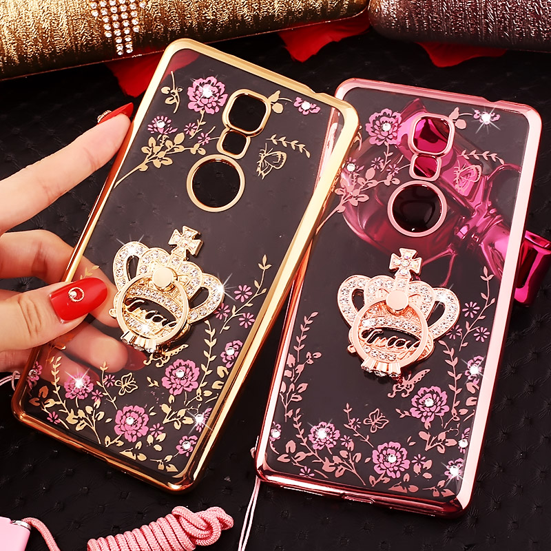 Gionee gionee m6Plus GN8002S bracket protective shell mobile phone sets diamond luxury soft m6p hanging rope