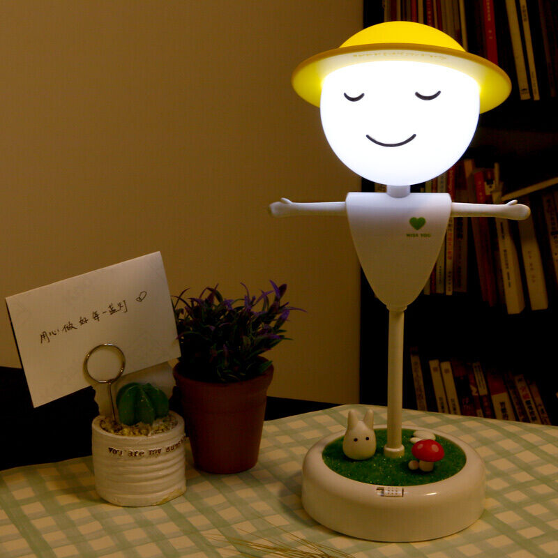 Girls birthday gift creative gifts to send girls wife girlfriend strange new children's children scarecrow small table lamp