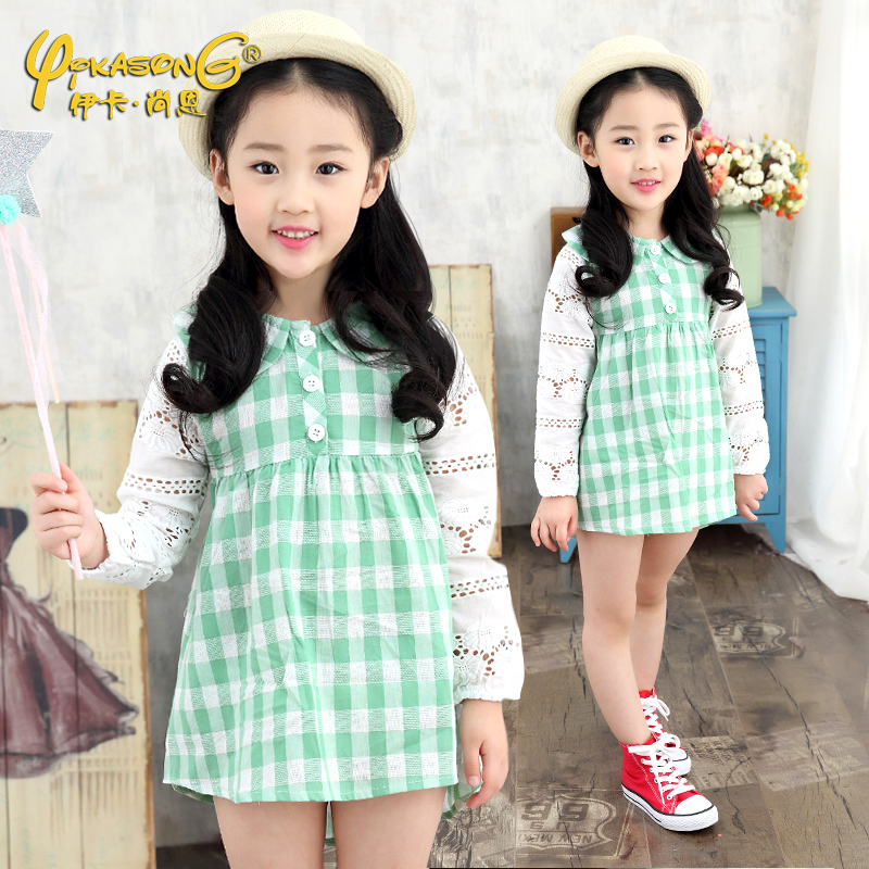 Girls spring and autumn 2016 autumn new girls dress child princess dress girls dress fashion spring and autumn
