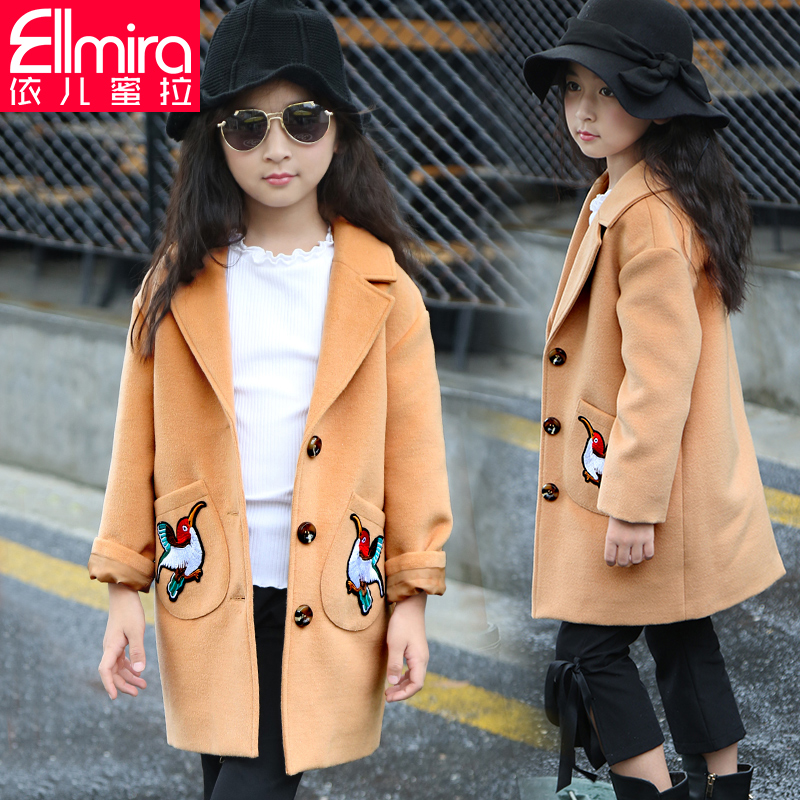 Girls woolen coat child coat nepalese child coat and long sections spring and autumn and winter 2016 new models big virgin korean female