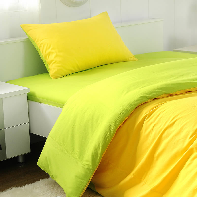 Giving him sleepless pure cotton sateen sheets of plain solid color bedding three sets of student dormitory beds 1.2 m bed